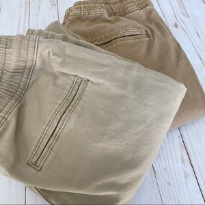 Charles and a Half boys khaki jogger pants 2 pair